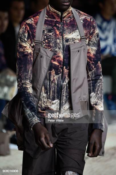 A model fashion detail walks the runway during the Louis Vuitton Menswear Fall/Winter 20182019 show as part of Paris Fashion Week on January 18 2018...