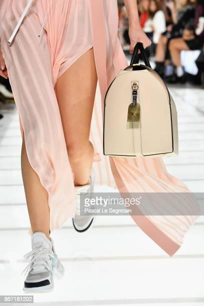 A model fashion detail walks the runway during the Louis Vuitton Paris show as part of the Paris Fashion Week Womenswear Spring/Summer 2018 on...