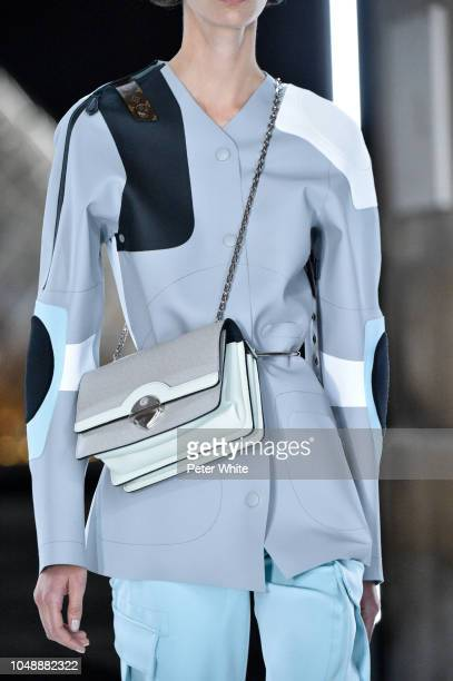 A model fashion detail walks the runway during the Louis Vuitton show as part of the Paris Fashion Week Womenswear Spring/Summer 2019 on October 2...