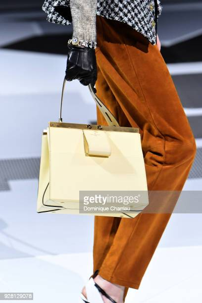 A model fashion detail walks the runway during the Louis Vuitton show as part of the Paris Fashion Week Womenswear Fall/Winter 2018/2019 on March 6...