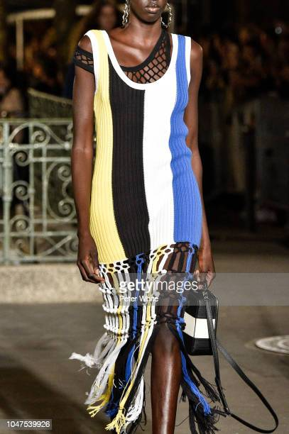 A model fashion detail walks the runway during the Sonia Rykiel show as part of the Paris Fashion Week Womenswear Spring/Summer 2019 on September 29...