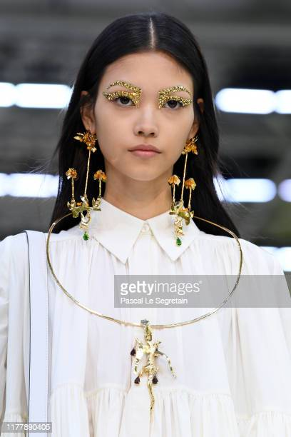 A model fashion detail walks the runway during the Valentino Womenswear Spring/Summer 2020 show as part of Paris Fashion Week on September 29 2019 in...