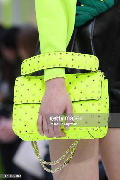 Model, fashion detail, walks the runway during the Valentino Womenswear Spring/Summer 2020 show as part of Paris Fashion Week on September 29, 2019...
