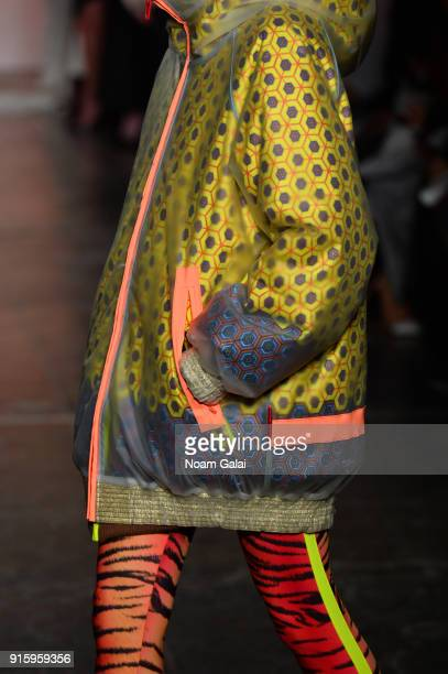 Model, fashion detail, walks the runway for Ceremony: Xuly.Bet x Mimi Prober x Hogan McLaughlin front row during New York Fashion Week presented by...