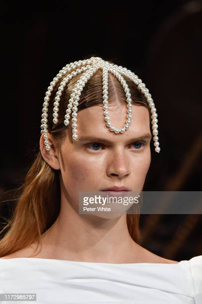 A model fashion detail walks the runway for Khaite during New York Fashion Week The Shows on September 07 2019 in New York City