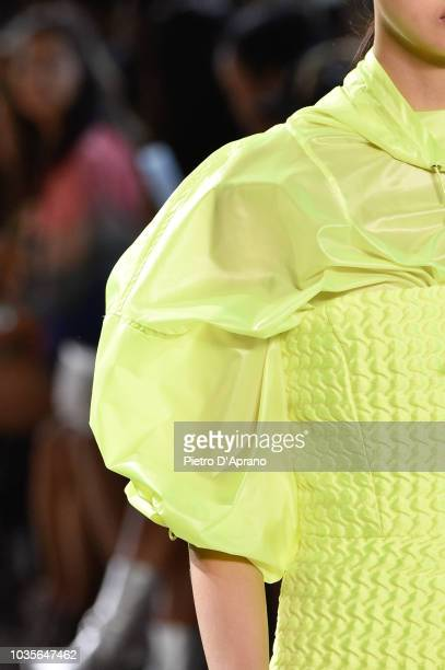 Model, fashion detail, walks the runway for Milly by Michelle Smith during New York Fashion Week: The Shows at Gallery II at Spring Studios on...