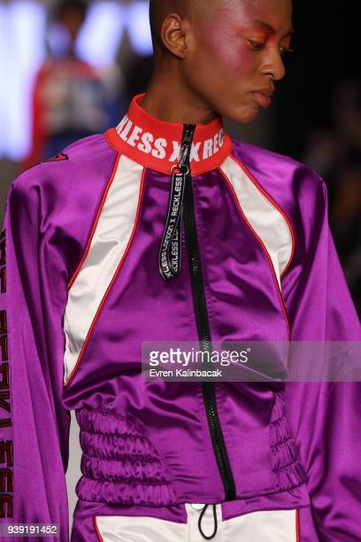A model fashion detail walks the runway for the DB Berdan show during Mercedes Benz Fashion Week Istanbul at Zorlu Center on March 28 2018 in...
