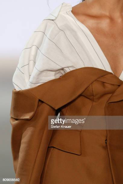 A model fashion detail walks the runway for the designer Fatima Danielson at the fashion talent award 'Designer for Tomorrow' by Peek Cloppenburg and...