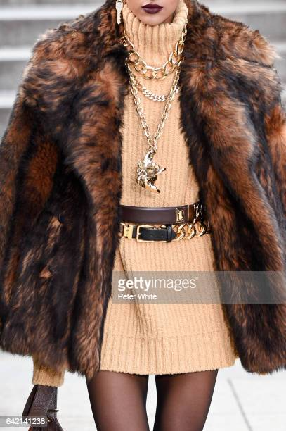 Model, fashion detail, walks the runway for the Marc Jacobs Fall 2017 Show at Park Avenue Armory on February 16, 2017 in New York City.