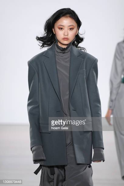 Model, fashion detail, walks the runway for the Taoray Wang fashion show during February 2020 - New York Fashion Week: The Shows at Gallery II at...