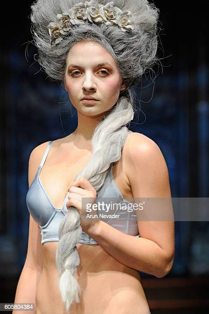 A model fashion detail walks the runway wearing Liviara at Art Hearts Fashion NYFW The Shows Presented by AIDS Healthcare Foundation at The Angel...
