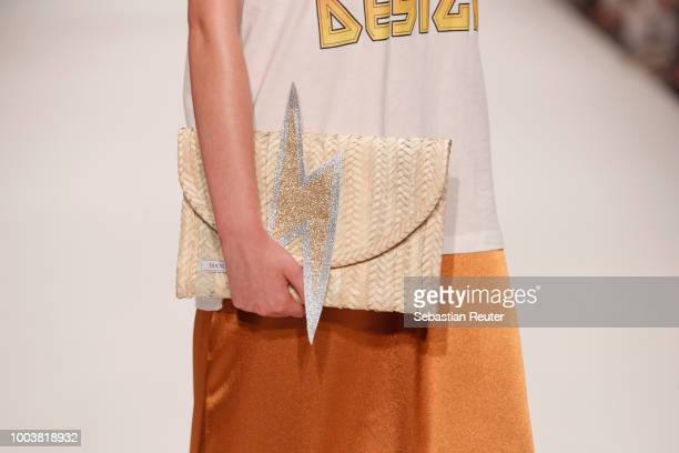 A model fashion detail walks the WMN PWR WMN show during Platform Fashion July 2018 at Areal Boehler on July 22 2018 in Duesseldorf Germany