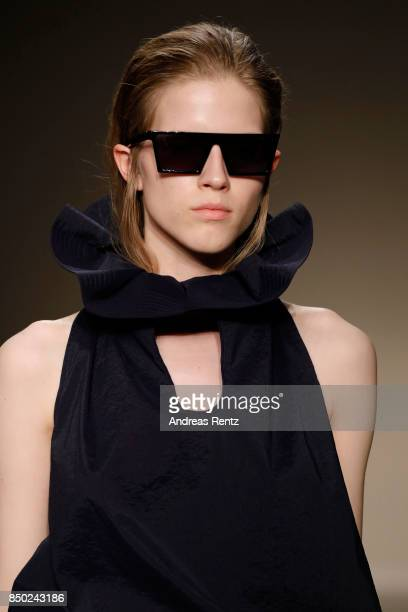 A model fashion details walks the runway at the Angel Chen show during Milan Fashion Week Spring/Summer 2018 on September 20 2017 in Milan Italy