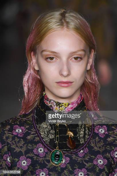 A model fashion details walks the runway during the Giambattista Valli show as part of the Paris Fashion Week Womenswear Spring/Summer 2019 on...