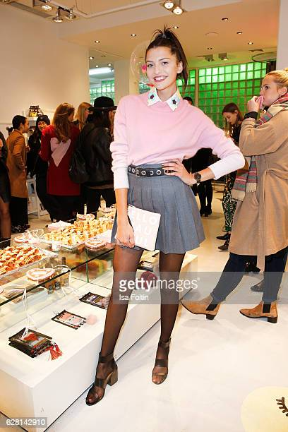 Model Fata Hasanovic attends the Iphoria store opening on December 6 2016 in Berlin Germany