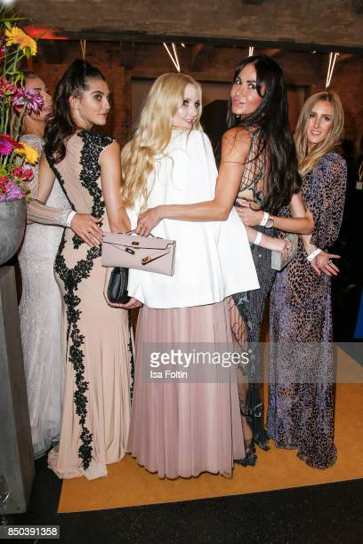 Model Fata Hasanovic model Anna Hiltrop Rafaella Slyusareva and Designer and Fashion Blogger Leslie Huhn attend the Dreamball 2017 at Westhafen Event...