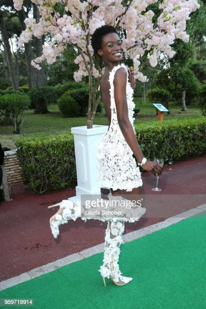 Model Fatou Jobe during the cocktail at the amfAR Gala Cannes 2018 at Hotel du CapEdenRoc on May 17 2018 in Cap d'Antibes France