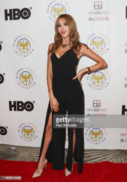 Model Fay Askaria attends the Global Charity Initiative Benefit at The Beverly Hilton Hotel on October 27 2019 in Beverly Hills California