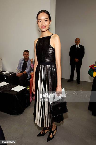 Model FeiFei Sun attends the Proenza Schouler fashion show during New York Fashion Week on September 12 2016 in New York City