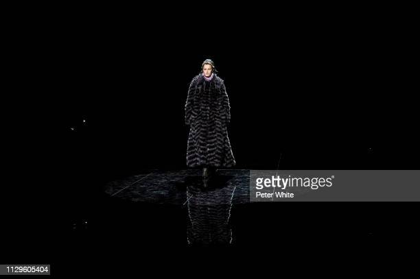 Model Felice Noordhoff walks the runway at the Marc Jacobs fashion show during New York Fashion Week on February 13 2019 in New York City