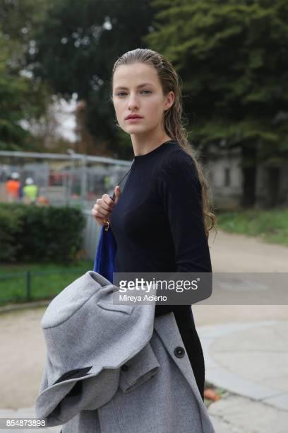 Model Felice Nova Noordhoff seen during Paris Fashion Week Womenswear Spring/Summer 2018 on September 27 2017 in Paris France