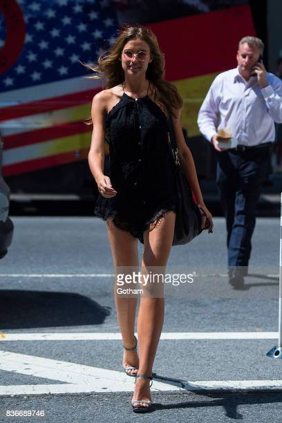 Model Fernanda Liz attends call backs for the 2017 Victoria's Secret Fashion Show in Midtown on August 21 2017 in New York City