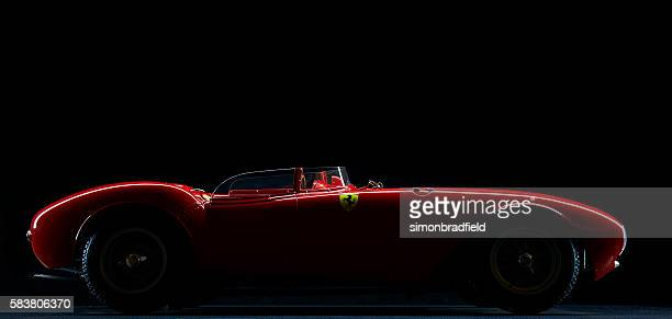 model ferrari 375 plus low key - ferrari stock pictures, royalty-free photos & images