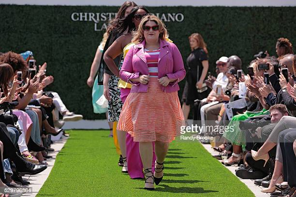 A model finale during the Christian Siriano x Lane Bryant Runway Show at United Nations on May 9 2016 in New York City