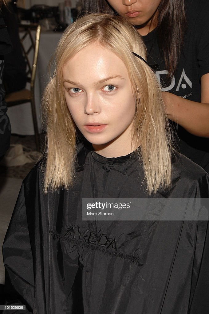 Model Firitollerod poses backstage at the Jason Wu Resort 2011 Collection at The St. Regis on June 4, 2010 in New York City.