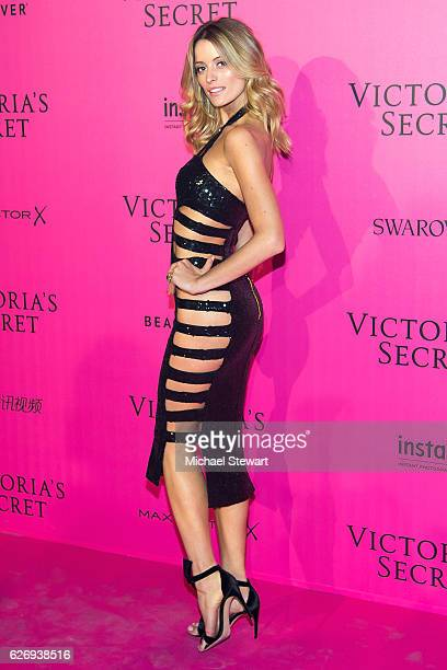 Model Flavia Lucini attends the 2016 Victoria's Secret Fashion Show after party at Le Grand Palais on November 30 2016 in Paris France