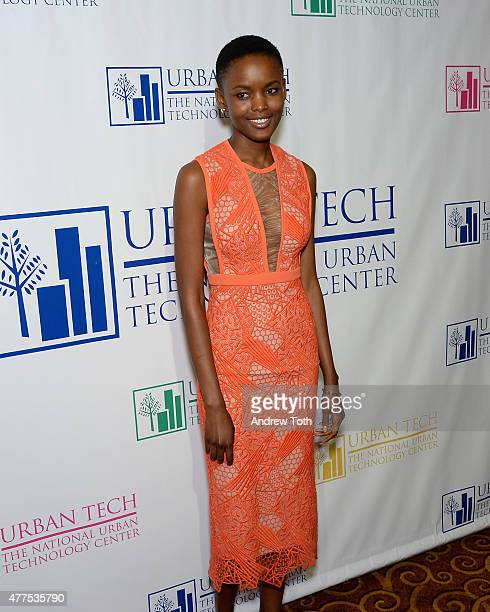 Model Flaviana Matata attends Breaking Barriers The 20th Anniversary of The National Urban Technology Center Gala Awards Dinner at Gotham Hall on...