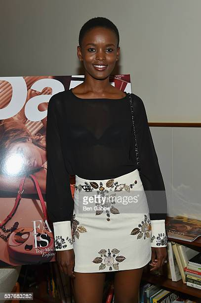 Model Flaviana Matata attends the The Daily's Summer premiere party at the Smyth Hotel on June 2 2016 in New York City