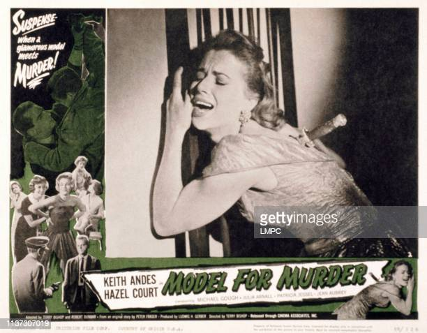 Model For Murder lobbycard Hazel Court Keith Andes 1959