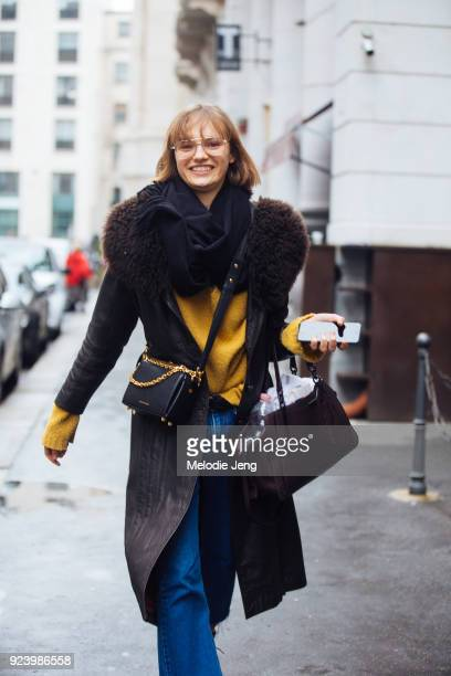 Model Fran Summers during Milan Fashion Week Fall/Winter 2018/19 on February 24 2018 in Milan Italy