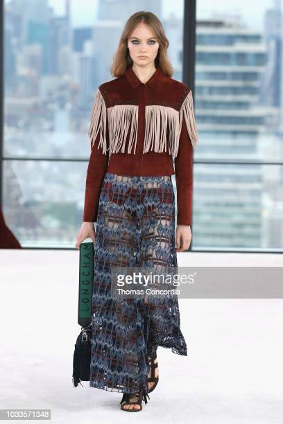 Model Fran Summers walks the runway look during the Longchamp Spring 2019 Runway Show on September 8 2018 in New York City