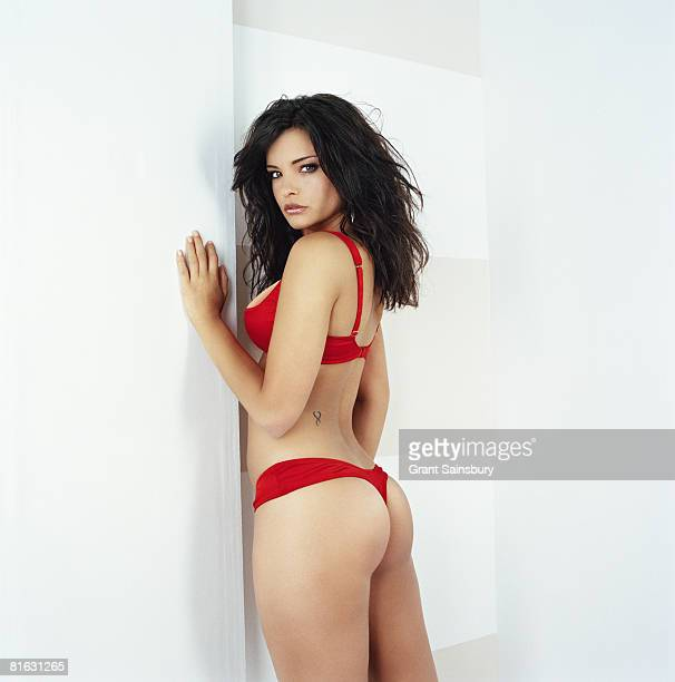 Model Francesca De Costa poses for a portrait shoot in London for FHM magazine on July 15 2005