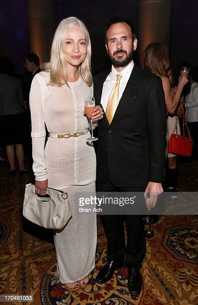Model Francesca Vuillemin and writer Brian Niemietz attend An Evening of Wishes MakeAWish Metro New York's 30th Anniversary Gala at Cipriani Wall...
