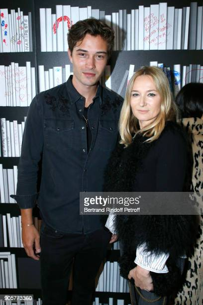 Model Francisco Lachowski and Artistic Director at Sonia Rykiel Julie de Libran attend the Manifesto Sonia Rykiel 5Oth Birthday Party at the Flagship...