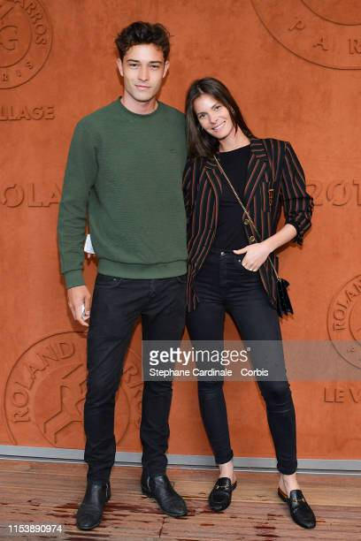 Model Francisco Lachowski and his wife Jessiann Gravel Beland attend the 2019 French Tennis Open Day Eleven at Roland Garros on June 05 2019 in Paris...