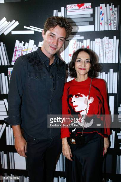 Model Francisco Lachowski and Nathalie Rykiel attend the Manifesto Sonia Rykiel 5Oth Birthday Party at the Flagship Store Boulevard Saint Germain des...