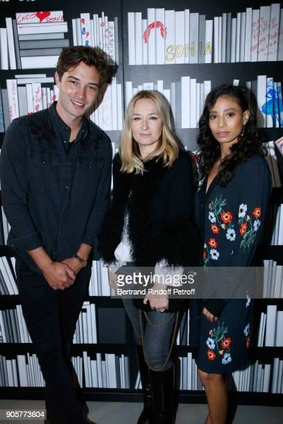 Model Francisco Lachowski Artistic Director at Sonia Rykiel Julie de Libran and dancer Hajiba Fahmy attend the Manifesto Sonia Rykiel 5Oth Birthday...