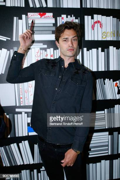 Model Francisco Lachowski attends the Manifesto Sonia Rykiel 5Oth Birthday Party at the Flagship Store Boulevard Saint Germain des Pres on January 16...