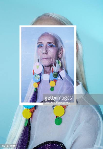 Model Francoise de Stael poses at a fashion shoot for Madame Figaro on May 31 2017 in Spain Earrings and top PUBLISHED IMAGE CREDIT MUST READ Laia...