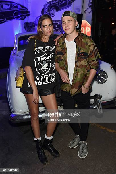 Model Frankie Rayder and Brooklyn Beckham attend the Givenchy SS16 after party on September 11 2015 in New York City