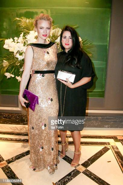 Model Franziska Knuppe and Minu Barati during the Ritz Carlton Berlin ReOpening Party at Ritz Carlton on March 5 2019 in Berlin Germany