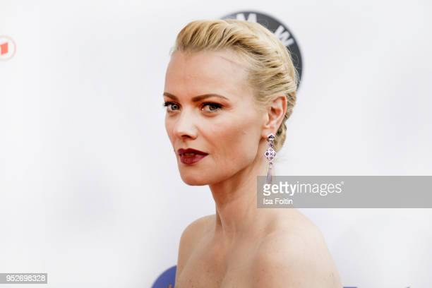 Model Franziska Knuppe attends the Lola German Film Award red carpet at Messe Berlin on April 27 2018 in Berlin Germany