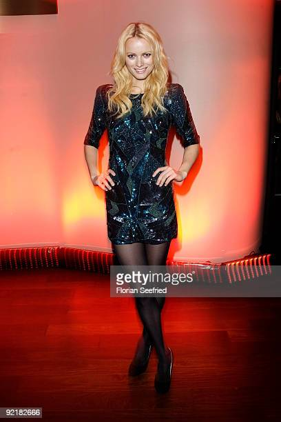 Model Franziska Knuppe attends the RIM presentation of the new 'BlackBerry Bold' at Kameha Suite on October 21 2009 in Cologne Germany