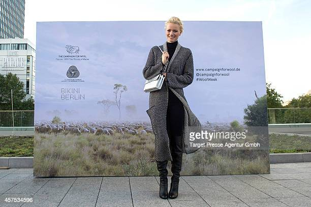 Model Franziska Knuppe attends the Wool Week Opening at Bikini on October 20 2014 in Berlin Germany