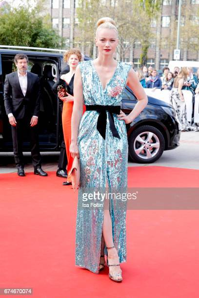 Model Franziska Knuppe during the Lola German Film Award red carpet arrivals at Messe Berlin on April 28 2017 in Berlin Germany