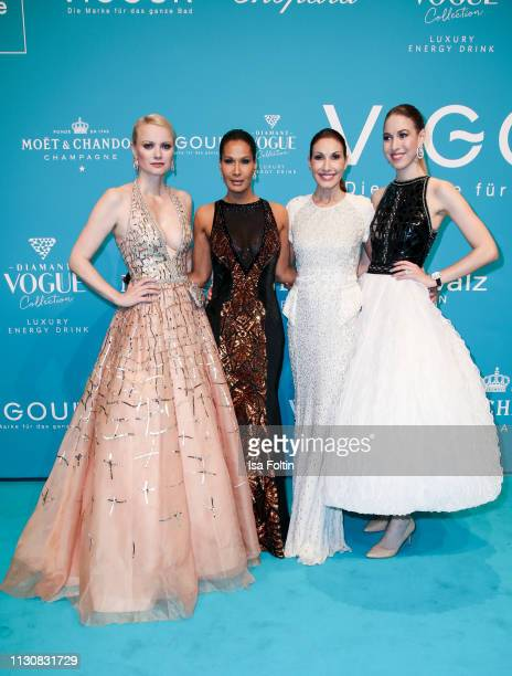 Model Franziska Knuppe model Marie Amiere Dagmar Koegel and her daughter Alana Siegel attend the presentation of the collection VIGOUR vogue by...